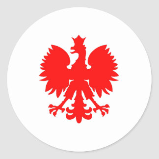 Polish Falcon (Eagle) Classic Round Sticker