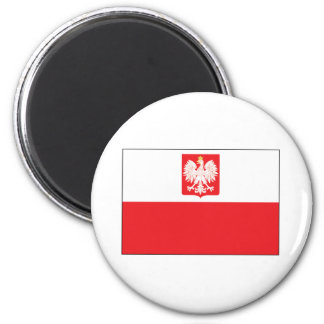 Polish Falcon Flag 2 Inch Round Magnet