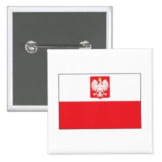 Polish Falcon Flag 2 Inch Square Button
