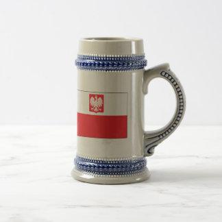 Polish Falcon Flag Beer Stein