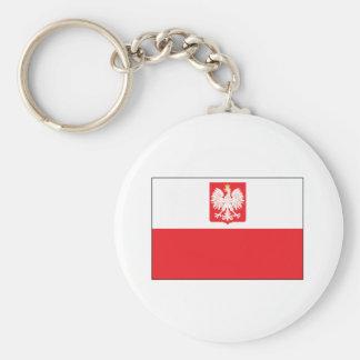 Polish Falcon Flag Keychain