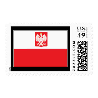 Polish Falcon Flag Postage Stamps