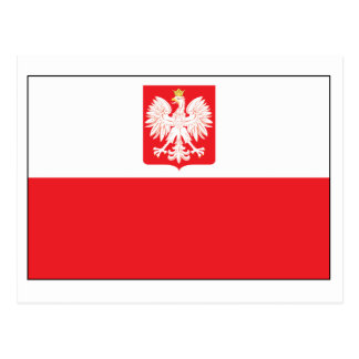 Polish Falcon Flag Postcard