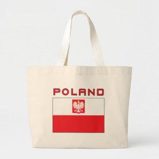 Polish Falcon Flag With Poland Jumbo Tote Bag