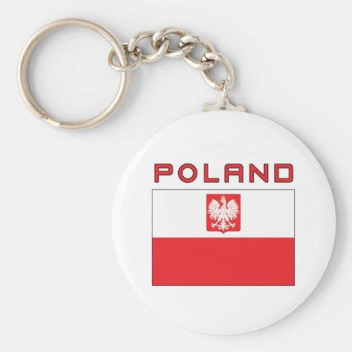 Polish Falcon Flag With Poland Keychain