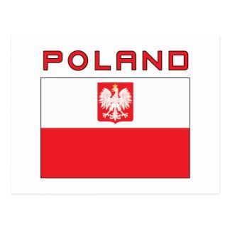 Polish Falcon Flag With Poland Postcard