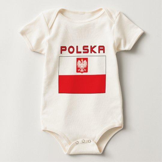 Polish Falcon Flag With Polska Baby Bodysuit