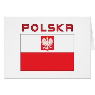 Polish Falcon Flag With Polska Greeting Card