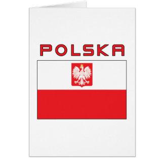 Polish Falcon Flag With Polska Cards