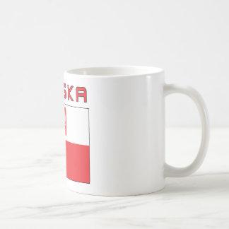 Polish Falcon Flag With Polska Classic White Coffee Mug