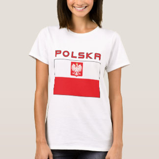Polish Falcon Flag With Polska T-Shirt