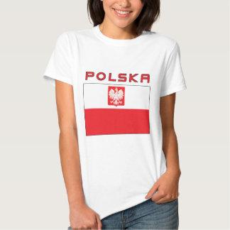 Polish Falcon Flag With Polska Tee Shirt