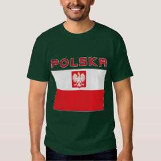 Polish Falcon Flag With Polska Tee Shirts