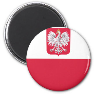 Polish Flag 2 Inch Round Magnet