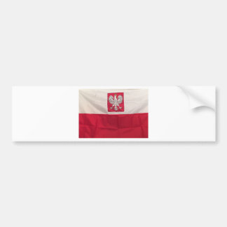 POLISH FLAG AND EAGLE BUMPER STICKER