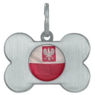 POLISH FLAG AND EAGLE PET NAME TAG