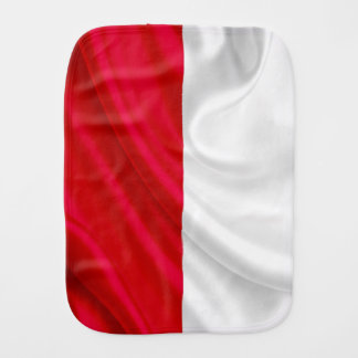 Polish Flag Baby Burp Cloth