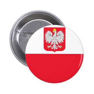 Polish Flag 2 Inch Round Button