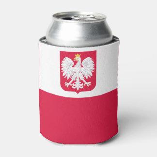 Polish flag can cooler