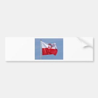 POLISH FLAG CAR BUMPER STICKER