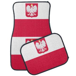 Polish flag car mat