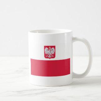 Polish Flag Classic White Coffee Mug