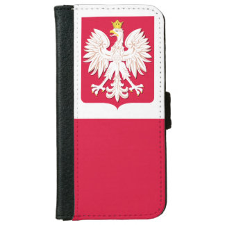 Polish Flag Coat of Arms Wallet Phone Case For iPhone 6/6s