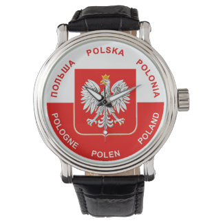 Polish Flag colors with White Eagle Wrist Watch