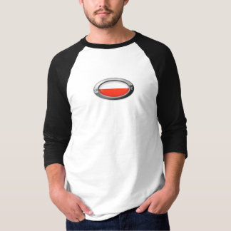 Polish Flag in Oval Steel Frame T-shirts