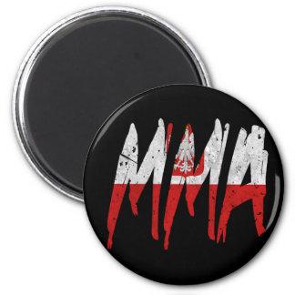Polish Flag MMA 2 Inch Round Magnet