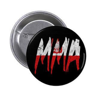 Polish Flag MMA Pinback Button