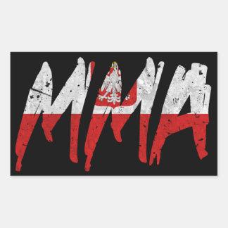 Polish Flag MMA Sticker