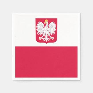 Polish flag napkin
