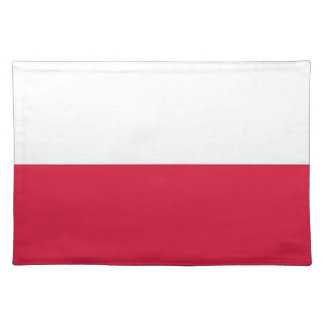 Polish Flag on MoJo Placemat Cloth Place Mat