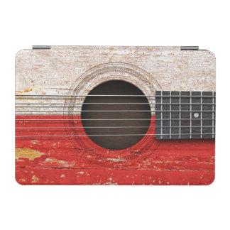 Polish Flag on Old Acoustic Guitar iPad Mini Cover