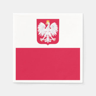Polish flag disposable napkin