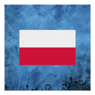 Polish flag perfect poster
