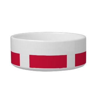 Polish Flag Cat Water Bowls