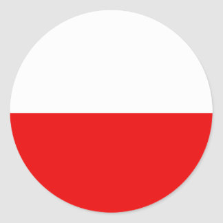Polish Flag T-shirts and Gifts Classic Round Sticker
