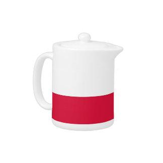 Polish Flag Teapot