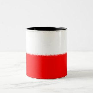 Polish Flag Two-Tone Coffee Mug