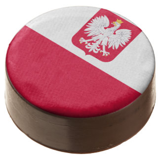 Polish flag chocolate covered oreo