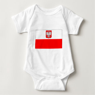 Polish Flag With Eagle Baby Bodysuit
