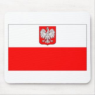 Polish Flag With Eagle Mouse Pad