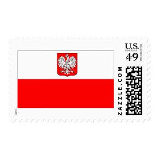 Polish Flag With Eagle Postage