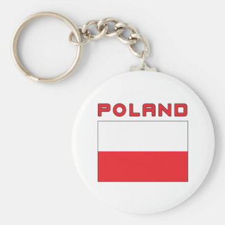 Polish Flag With Poland Keychain