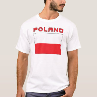 Polish Flag With Poland T-Shirt