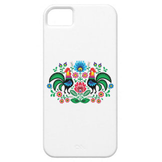 Polish floral embroidery, traditional folk pattern iPhone SE/5/5s case