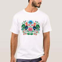 Polish floral pattern with roosters T-Shirt