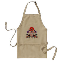 polish folk adult apron